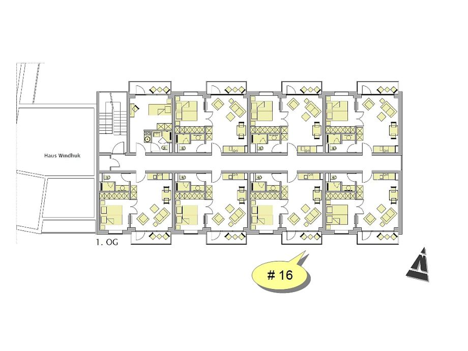apartment suitehotel windhuk suite 16 sylt firma appartementvermittlung familie clausen. Black Bedroom Furniture Sets. Home Design Ideas