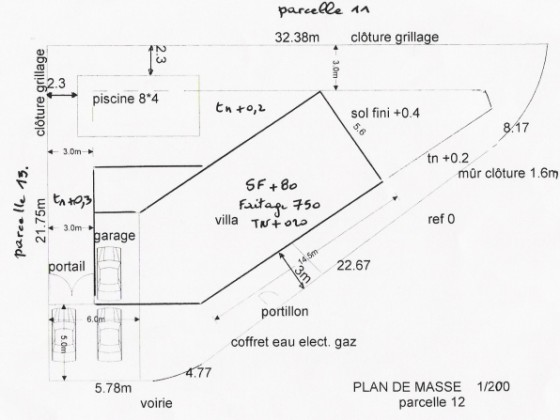Villa clapiers with pool montpellier mr wolfgang schneider House plans for triangular lots