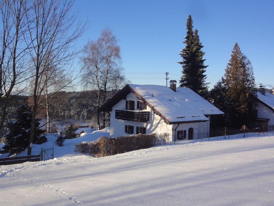 Ferienhaus Glashütt im Winter