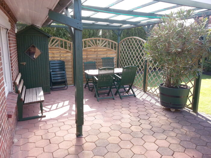 unsere gemütliche Terrasse