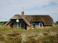 - Klegod beach/North Sea thatched roof house