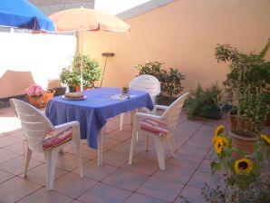 Ferienwohnung 1 Residentie Real in Strandnähe mit riesiger Sonnenterrasse