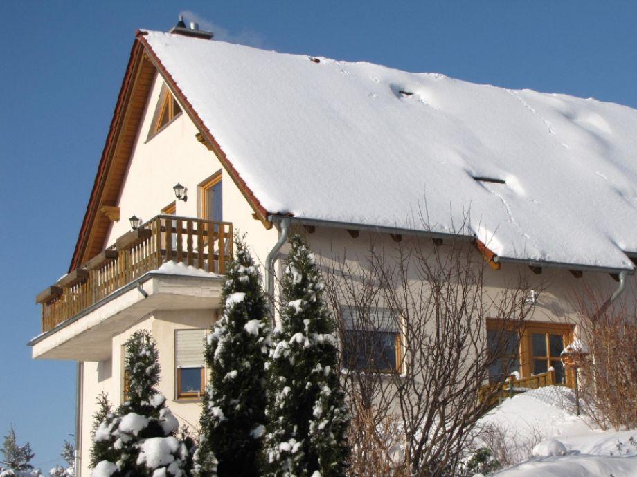 Gebirgsblick im Winter