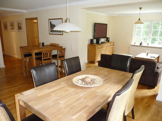 esszimmer wohnzimmer aufteilung ferienwohnung 2 in der weidenhuser mhle nordrhein westfalen - Esszimmer Im Wohnzimmer