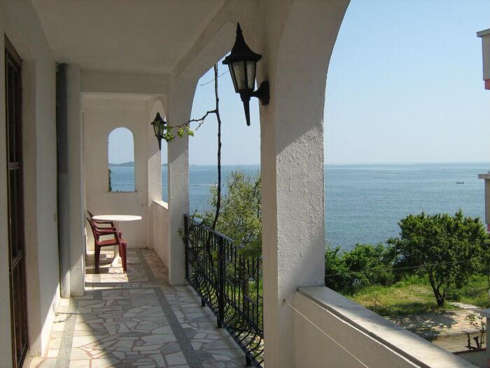 die 45m2 Terrasse  - zum Meer