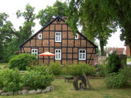 in the half-timbered house