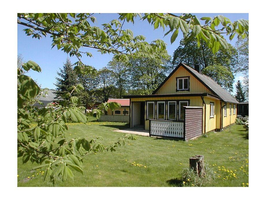 Gelbes Ferienhaus