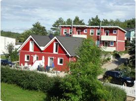 Ferienhaus - Eingang + Terrasse