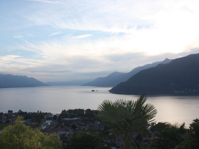Blick vom Balkon der Ferienwohnung