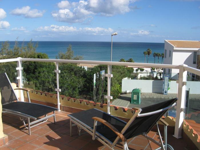 Terrasse mit Blick auf den Atlantik