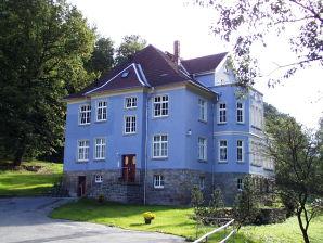 Teichblick in der Villa Spiegel