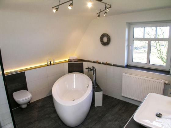 freistehende badewanne raffinierten look – usblife, Badezimmer