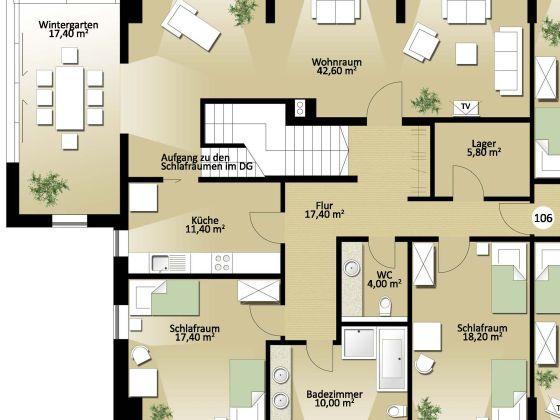 ferienwohnung p llner 106 m nchen und dachau familie christine und alfred p llner. Black Bedroom Furniture Sets. Home Design Ideas
