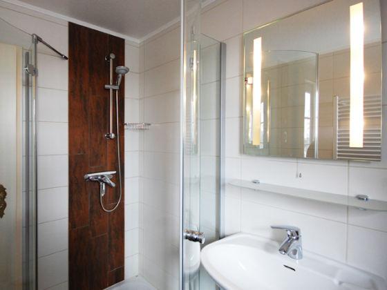 Das moderne bad mit dusche