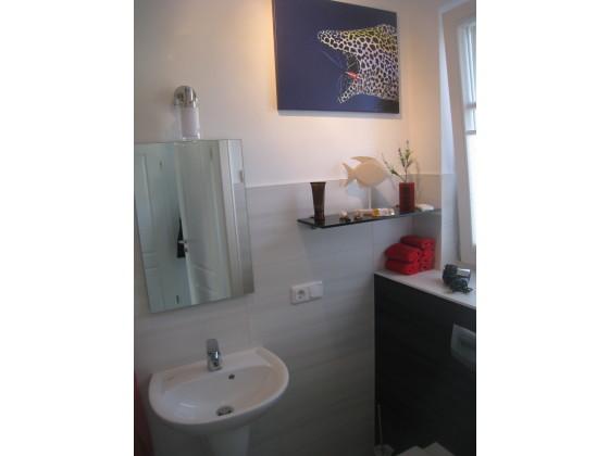 Ferienhaus bella blue fischland darss frau veronika for Gaste wc mit dusche