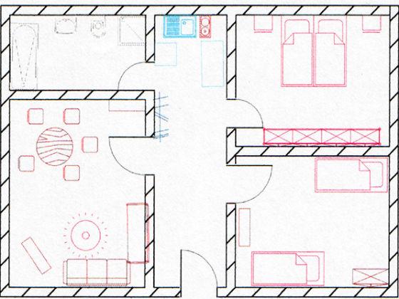 ferienwohnung wohnung 2 ferienhaus speckert cuxhaven duhnen nordsee niedersachsen firma. Black Bedroom Furniture Sets. Home Design Ideas