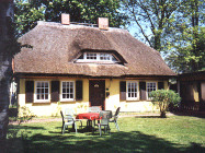 with thatched roof