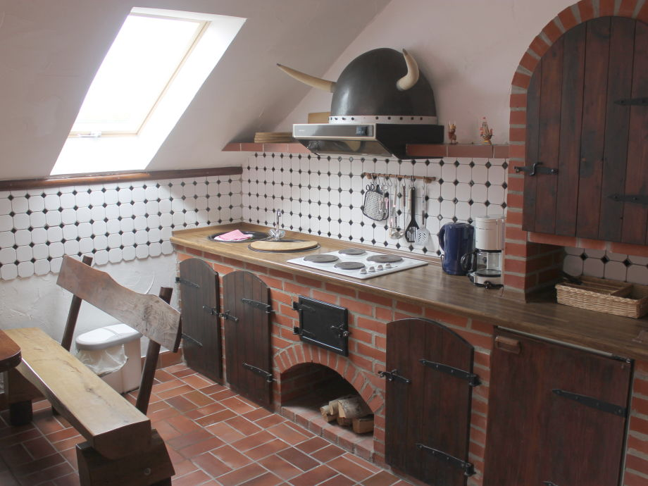 Gemauerte kuche