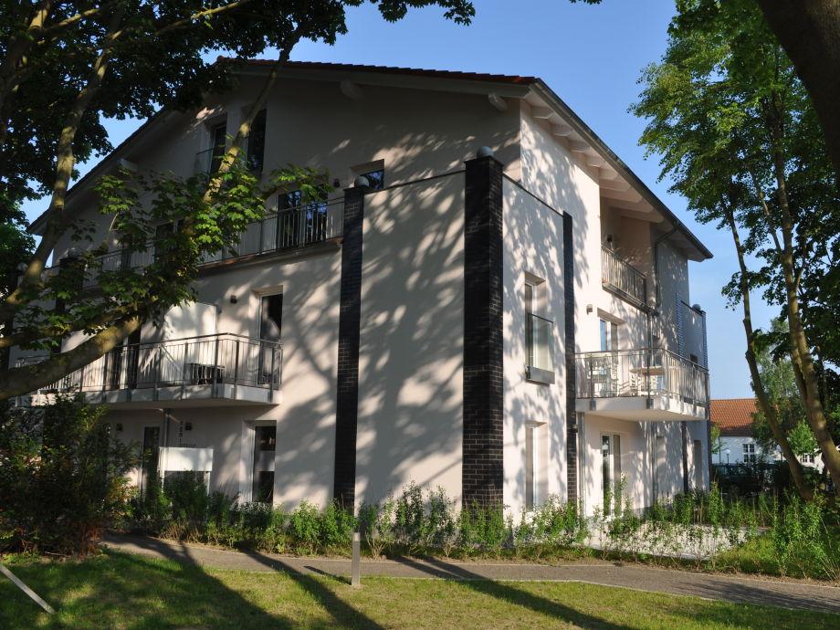 Haus mit unserer Ferienwohnung in der 1. Etage vorne