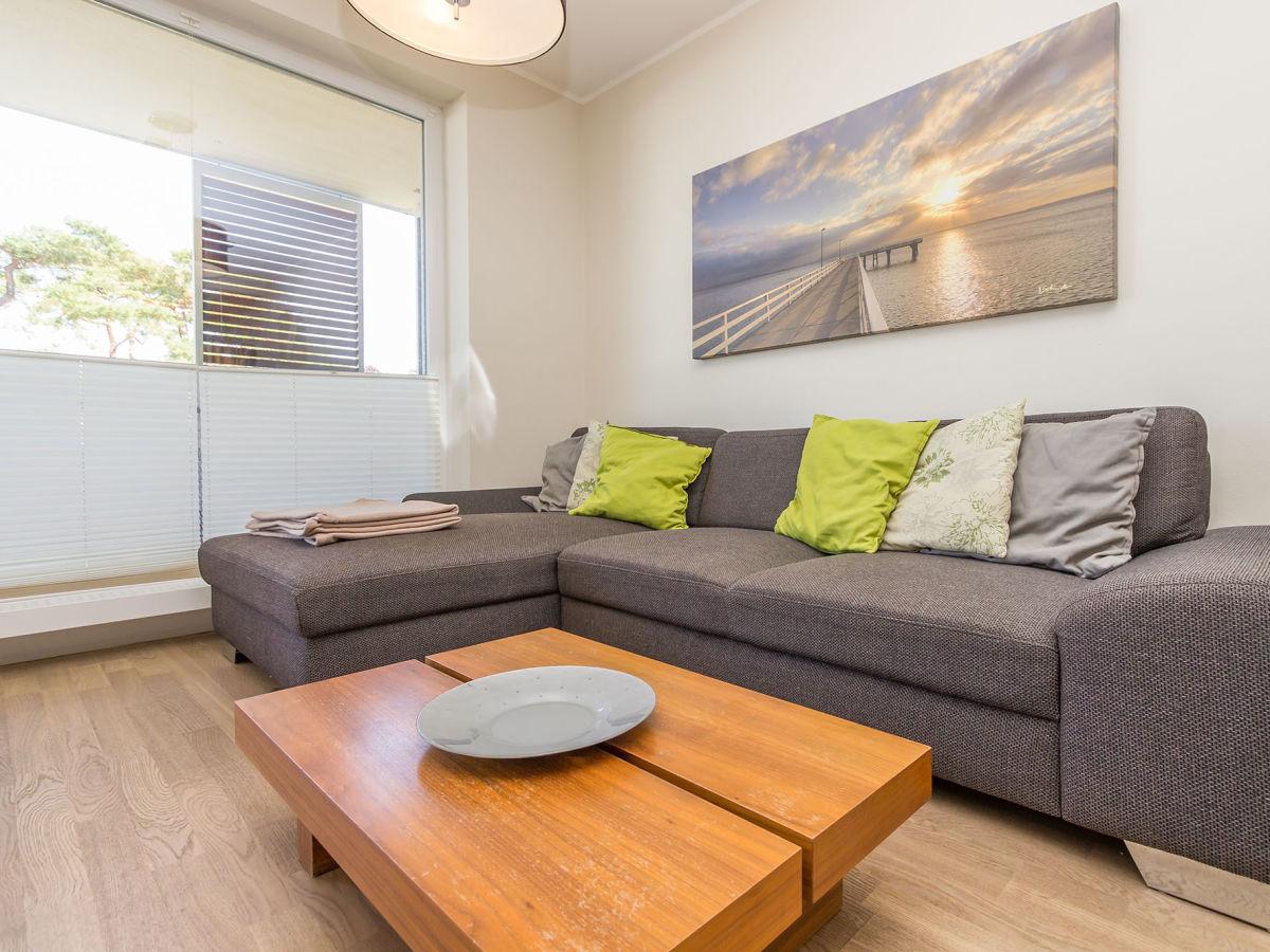 Ferienwohnung 18 im haus wohnen am meer timmendorfer - Couchgarnitur wohnzimmer ...