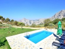 Typical old dalmatian stone holiday house with pool