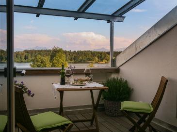 Ferienwohnung Loggia im Ferienhaus Lebensart-am-See