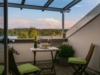 Loggia im Ferienhaus Lebensart-am-See