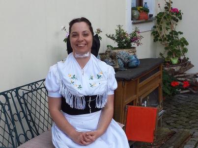 Your host Cornelia Bedrich