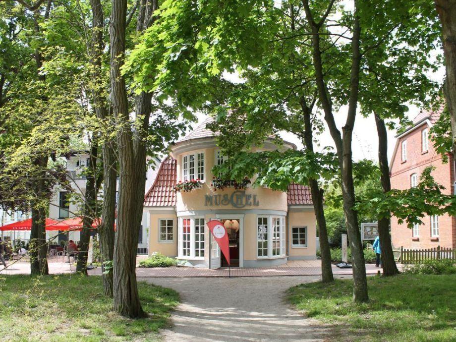 Villa Muschel - Blick auf die Villa vom Strandweg