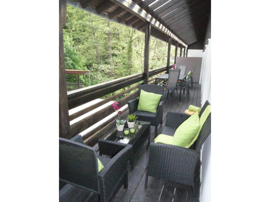 Balkon mit Lounge