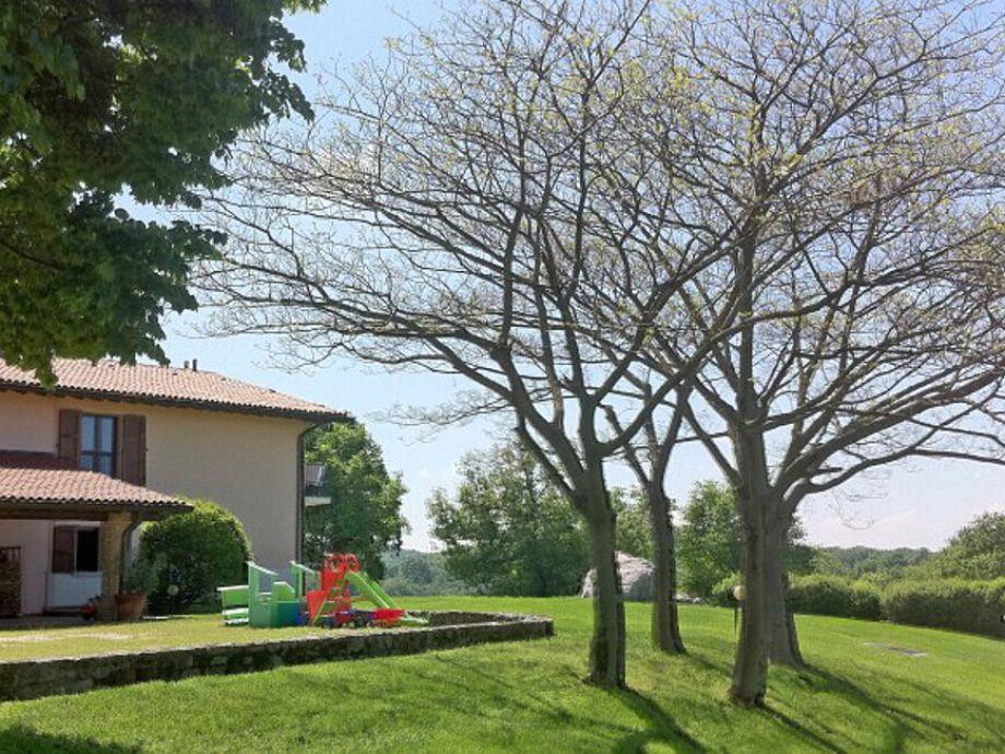 Green surrounding of Villa Monte Croce