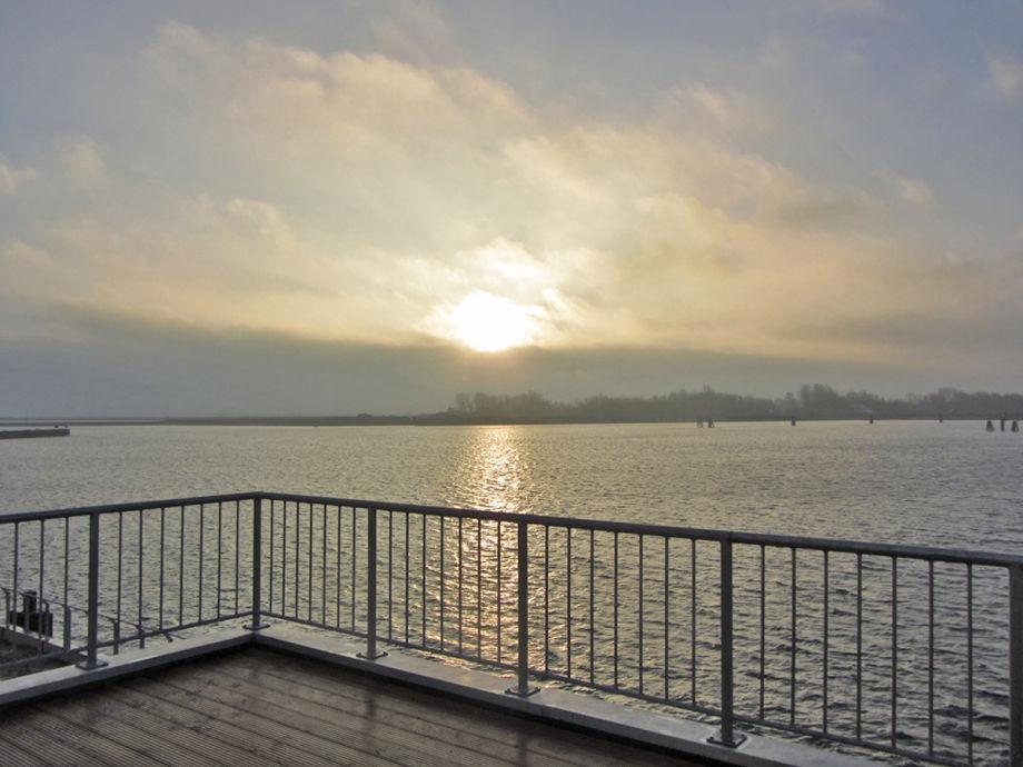 Ferienwohnung Morgenlicht - Blick von der Terrasse