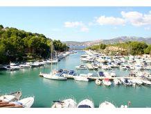 Ferienhaus Rubin mit Blick auf den Yachthafen