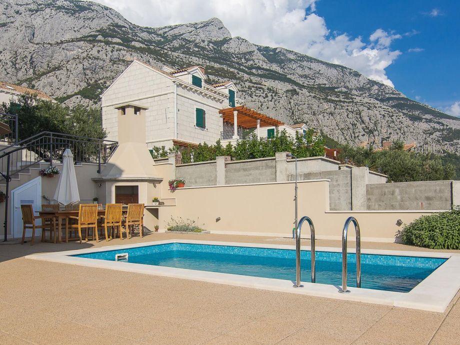 Ferienhaus Paolo Makarska mit Terrasse und Pool