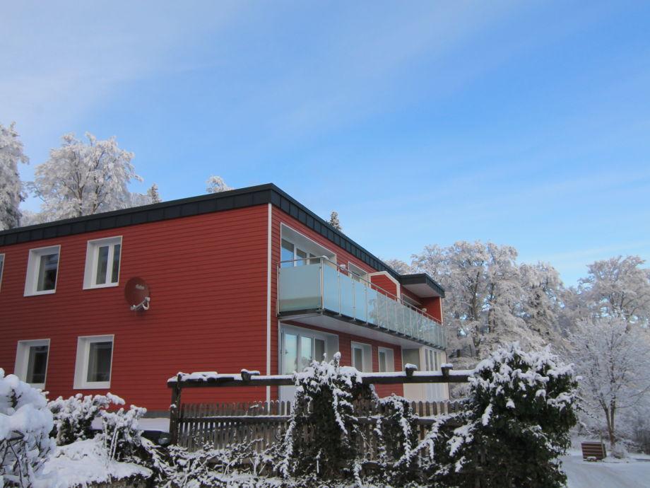 Der Buchenhof im Schnee.