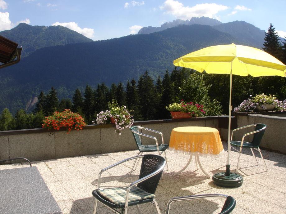Terrasse der Fewo Enzian de luxe