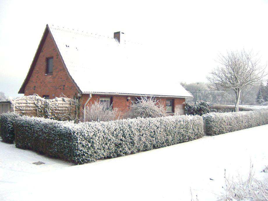 Ferienhaus Pelsrade im Winter