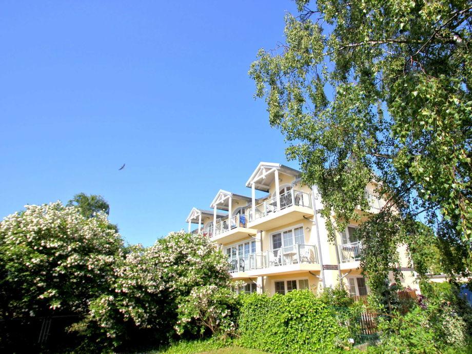 Außenaufnahme in der Strandvilla Böck (Typ A, WE13)