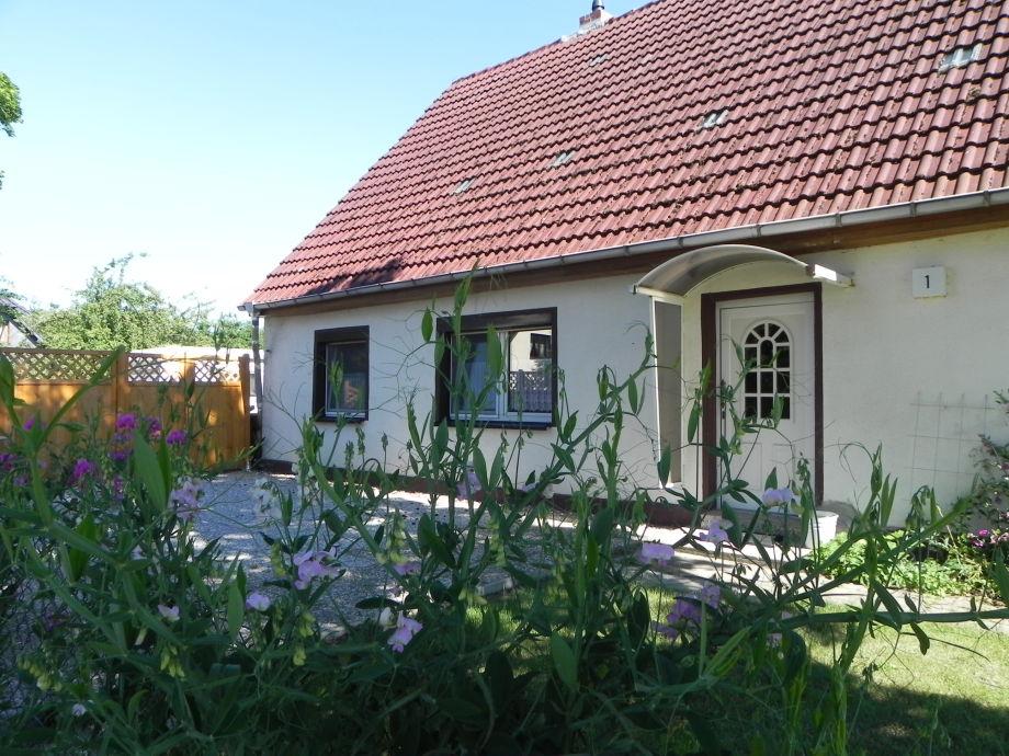 eingezäunte Terrasse vor dem Haus