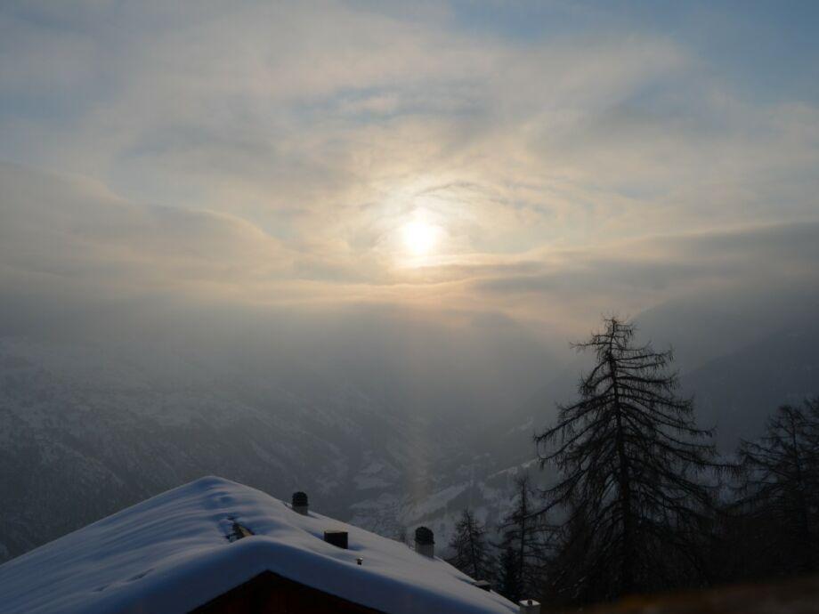 Winterstimmung von unserem Sonnenbalkon