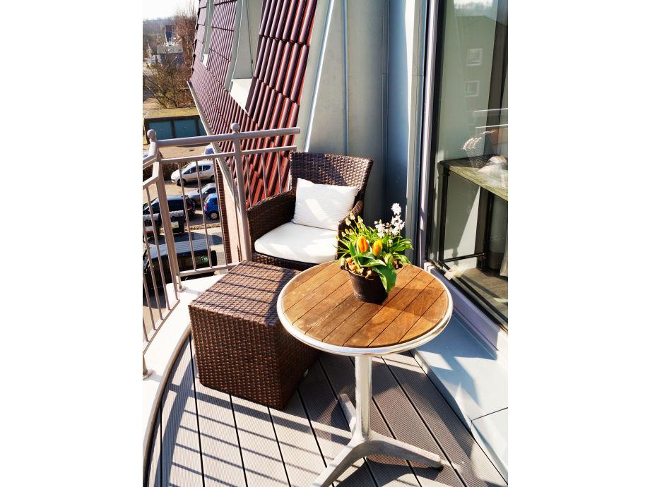 Balkon mit Stadtaussicht