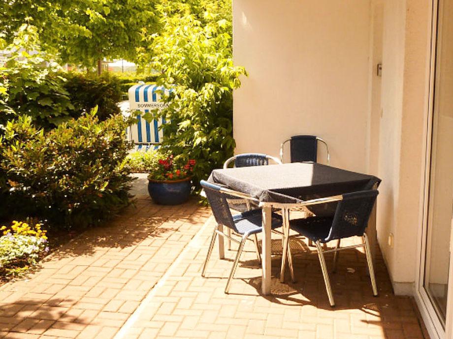 Ferienwohnung Haus Frohsinn Terrasse