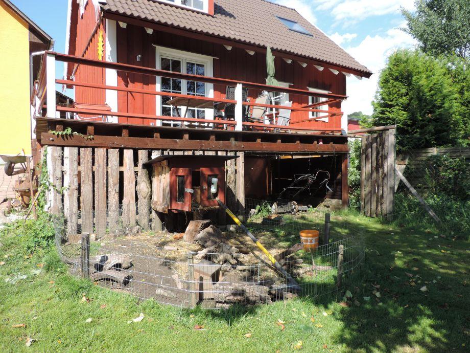 Villa Mika und das Hasengehege
