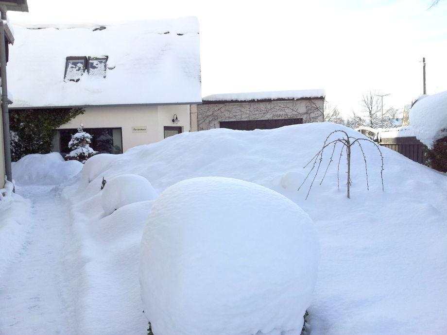 auch das giebt`s, Schnee ohne Ende