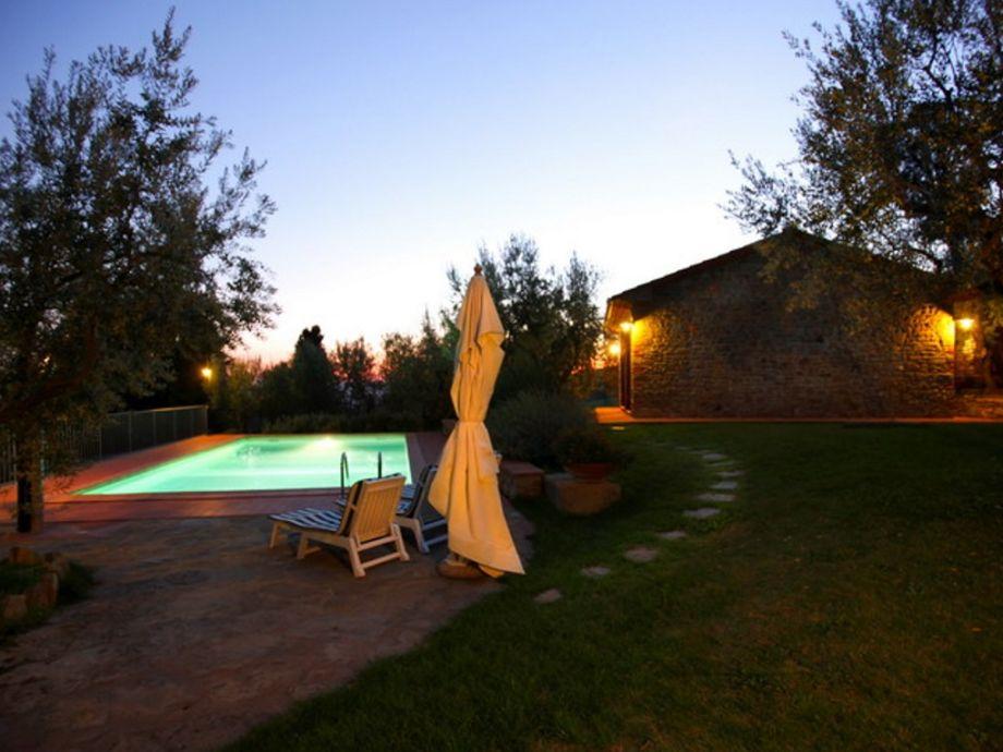 Villa Morena bei Sonnenuntergang