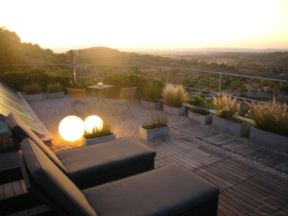 Dachterrasse mit Ausblick zum Tramuntana Gebirge und Ca