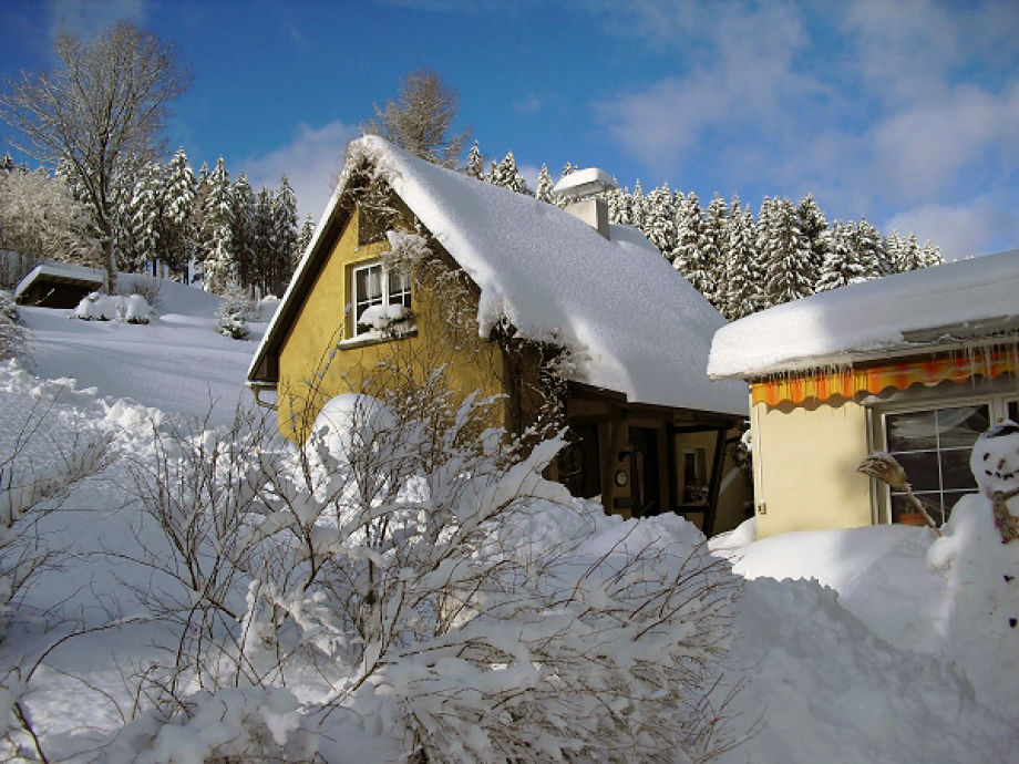 Winteransicht vom Ferienhaus Keiner