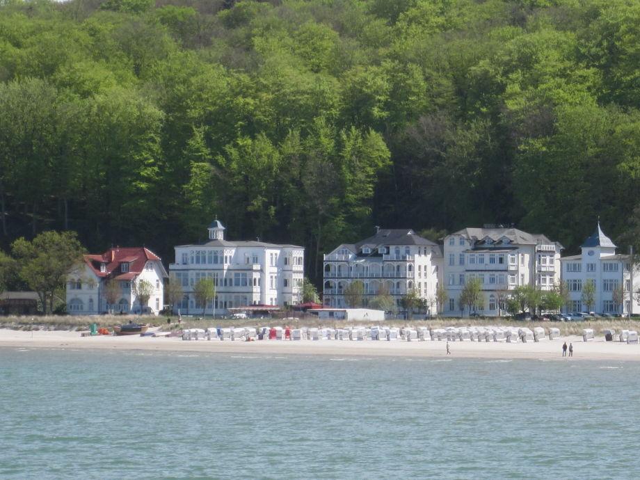 Die Villa Agnes am Binzer Strand.