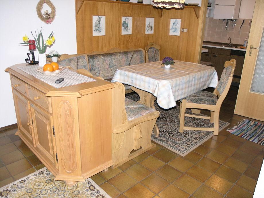 Ferienhaus mit sauna konigscard optional lechbruck am for Essgruppe küche