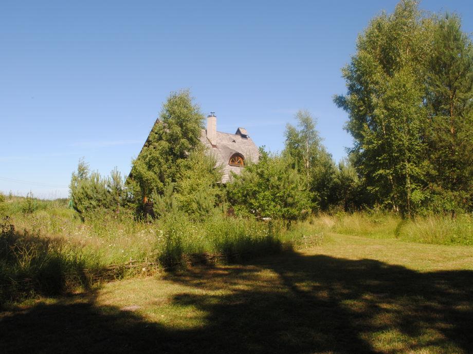 Das Ferienhaus - Sicht aus dem Garten